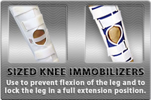 Sized Knee Immobilizers