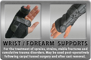Wrist & Forearm Supports