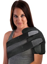 Grey Foam Split Strap Post-Op Compression Cryotherapy Shoulder Wrap