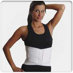 "10"" Economy Lumbosacral Support w/Cross Vector"