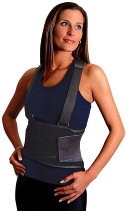 Black Lift Belt with Shoulder Straps