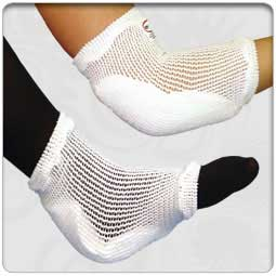 Tubular Knit Heel & Elbow Protectors with Memory Foam