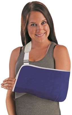 Velpeau Cradle Arm Sling & Shoulder Immobilizer D-Ring & Hook Closure