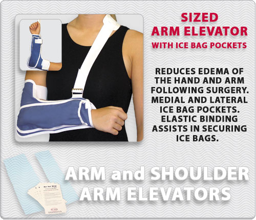 Sized Arm Elevator with Ice Bag Pockets